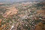 Amador County by air--Jackson downtown to the north toward Martell