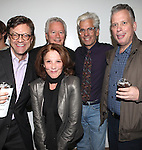 Jim Caruso, Stephen Sorokoff, Linda Lavin, Director Steve Bakunas and Billy Stritch at The Red Barn Studio Theatre Off-Broadway production of 'Positions' at the Roy Arias Studio Theatre on October 10, 2012 in New York City.