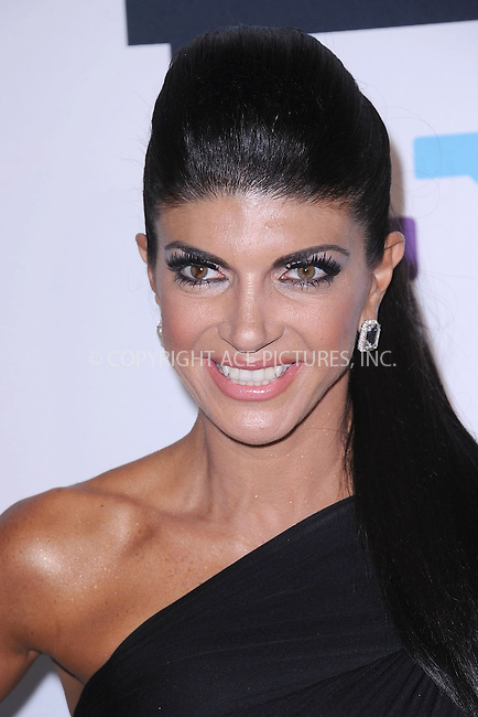 WWW.ACEPIXS.COM . . . . . .April 3, 2013...New York City....Teresa Giudice attends the 2013 Bravo New York Upfront at Pillars 37 Studios on April 3, 2013 in New York City ....Please byline: KRISTIN CALLAHAN - ACEPIXS.COM.. . . . . . ..Ace Pictures, Inc: ..tel: (212) 243 8787 or (646) 769 0430..e-mail: info@acepixs.com..web: http://www.acepixs.com .