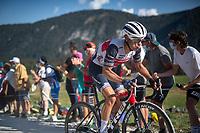 Richie Porte (AUS/Trek-Segafredo) at the gravel section atop the Montée du plateau des Glières (HC/1390m)<br /> <br /> Stage 18 from Méribel to La Roche-sur-Foron (175km)<br /> <br /> 107th Tour de France 2020 (2.UWT)<br /> (the 'postponed edition' held in september)<br /> <br /> ©kramon