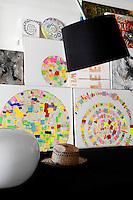 modern colored artworks