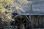 Old rustic turn of the century Grist Mill building located on the campus of the College of the Ozarks Missouri