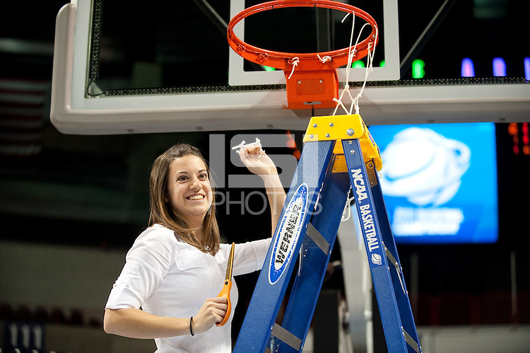 SPOKANE, WA - MARCH 28, 2011: Sarah Boruta, Stanford Women's Basketball vs Gonzaga, NCAA West Regional Finals at the Spokane Arena on March 28, 2011.