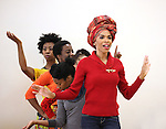 Michelle Williams with ensemble cast rehearsing for the touring company of 'FELA!'  at the Pearl Studios in New York City on 1/23/2013