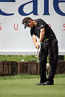 Nick Dougherty tees off on the 18th in the 3rd Round of the Open de Espana in Madrid...Photo NEWSFILE/Eoin Clarke.(Photo credit should read Eoin Clarke/NEWSFILE)....This Picture has been sent you under the condtions enclosed by:.Newsfile Ltd..The Studio,.Millmount Abbey,.Drogheda,.Co Meath..Ireland..Tel: +353(0)41-9871240.Fax: +353(0)41-9871260.GSM: +353(0)86-2500958.email: pictures@newsfile.ie.www.newsfile.ie.FTP: 193.120.102.198..