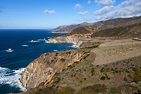 California Highway 1 and the Bixby Bridge along California's Big Sur Coastline