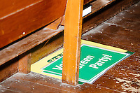 A campaign sign lays on the ground at a campaign rally for Green Party presidential nominee Jill Stein at Old South Church in Boston, Massachusetts, on Sun., Oct. 30, 2016.