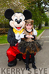 Enjoying the Fancy Dress fun Run in the park on Saturday with mickey Mouse was Abbie Rogers