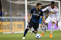 San Jose, CA - Saturday October 06, 2018: Vako, Michael Amir Murillo during a Major League Soccer (MLS) match between the San Jose Earthquakes and the New York Red Bulls at Avaya Stadium.