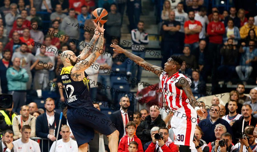 Pero Antic Quincy Miller Euroleague basketball game between Crvena Zvezda and Fenerbahce on Novembar 6. 2015 Beograd, Srbija, 6.11.2015.  (credit image & photo: Pedja Milosavljevic / STARSPORT)
