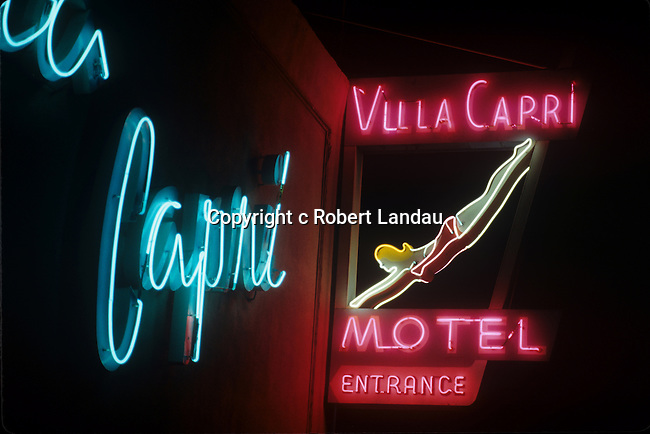 Villa Capri Motel Neon Sign
