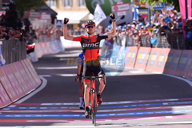 Tejay Van Garderen (USA) BMC Racing Team wins Stage 18 of the 100th edition of the Giro d'Italia 2017, running 137km from Moena to Ortisei/St. Ulrich, Italy. 25th May 2017.<br /> Picture: LaPresse/Gian Mattia D'Alberto | Cyclefile<br /> <br /> <br /> All photos usage must carry mandatory copyright credit (&copy; Cyclefile | LaPresse/Gian Mattia D'Alberto)