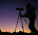06/08/18<br /> <br /> Ten-year-old Freya Kirkpatrick sets up a camera to capture an Iridium Flare visible over Derbyshire tonight - an event that may not be possible to see again from this autumn.<br /> <br /> She used an app on her ipad to predict the exact bearing, elevation and time to photograph the heavenly event.<br /> <br /> An Iridium Flare is when light is reflected off an Iridium satellite. All 66 of these old, low-orbit, communications satellites are all currently being de-orbited and tumbling back to earth (many have already done so) and are being replaced with new ones that will not reflect light in the same way. Many of these Iridium satellites will remain in an irregular decreasing orbit for years to come but their 'flares' will become harder to predict.<br /> <br /> Matt Desch, CEO of Iridium Communications said: &quot;By autumn 2018 we will not need any more of the original satellites.<br /> <br /> &quot;So in terms of satellites that are under our control and still predictably flare, the last one will be around the end of 2018.&quot;<br /> <br /> Tonight 'Iridium 95' was at 43 degrees in the north eastern sky at an elevation of 36 degrees and passed over Clifton, as predicted at exactly 22:51:20.<br /> <br /> <br />  <br /> All Rights Reserved: F Stop Press Ltd. +44(0)1335 344240  www.fstoppress.com www.rkpphotography.co.uk