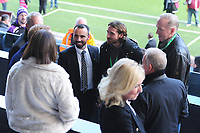 Leon Briton and Joe Allen during the Sky Bet Championship match between Swansea City and Cardiff City at the Liberty Stadium in Swansea, Wales, UK. Sunday 27 October 2019