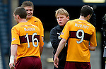Motherwell v St Johnstone.....16.04.11  Scottish Cup Semi-Final.Jamie Murphy and Stuart McCall at full time.Picture by Graeme Hart..Copyright Perthshire Picture Agency.Tel: 01738 623350  Mobile: 07990 594431