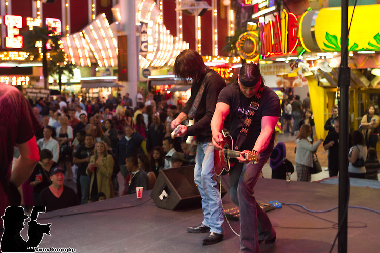 Jay Bolan Band performs on Fremont Street in Las Vegas