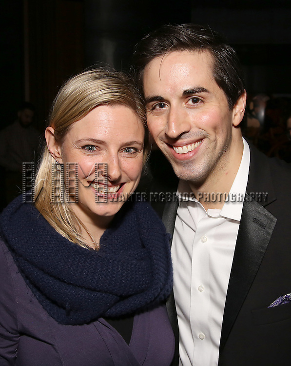Laura Heywood and Matthew Scott attend the DGF Reception for Andrew Lippa & Friends at Landmarc on February 1, 2017 in New York City.