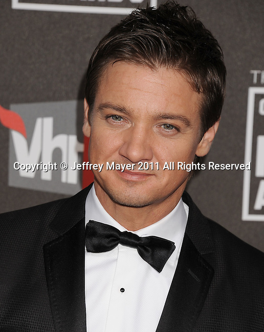 HOLLYWOOD, CA - January 14: Jeremy Renner  arrives at the 16th Annual Critics' Choice Movie Awards at the Hollywood Palladium on January 14, 2011 in Hollywood, California.