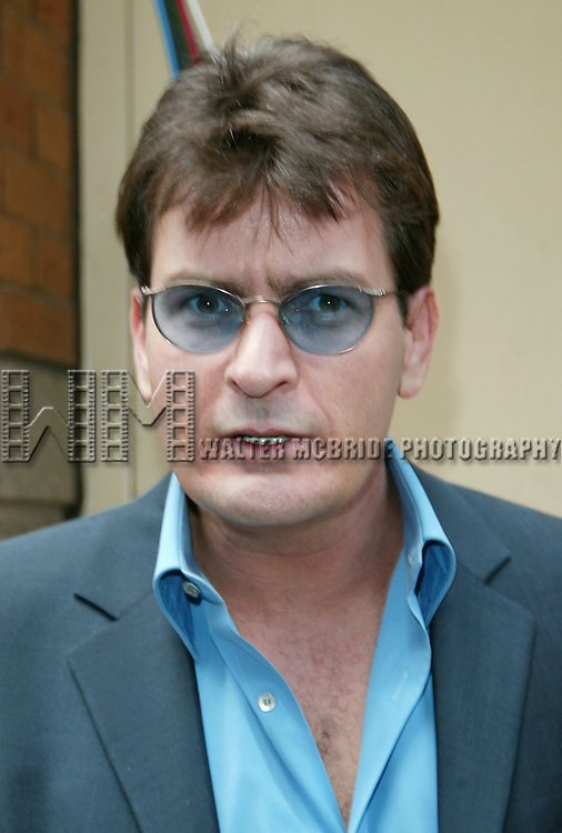 Charlie Sheen & attending the CBS TV Network Upfronts at Tavern On The Green Restaurant in New York City.