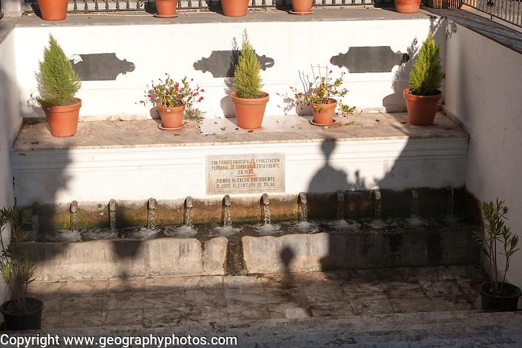 Water supply trough fountain spring, Fuenteheridos village Sierra Morena, Sierra Aracena, Spain