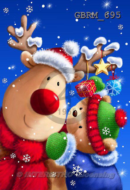 Roger, CHRISTMAS ANIMALS, paintings+++++,GBRM695,#XA#