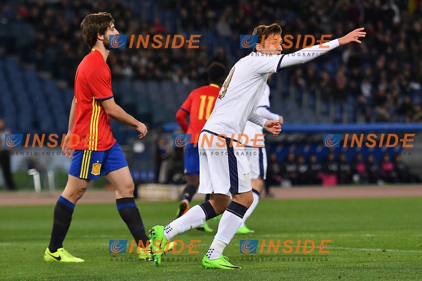 Federico Chiesa Italia <br /> Roma 27-02-2017, Stadio Olimpico<br /> Football Friendly Match  <br /> Italy - Spain Under 21 Foto Andrea Staccioli Insidefoto