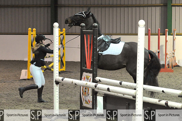 Class 8. Unaffiliated showjumping. Brook Farm Training Centre. Essex. UK. 27/01/2019. ~ MANDATORY Credit Garry Bowden/Sportinpictures - NO UNAUTHORISED USE - 07837 394578