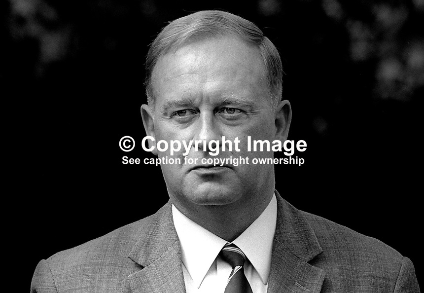 William Craig, Ulster Unionist politician, MP, Larne, in N Ireland Parliament at Parliament Buildings, Stormont, August 1970, 197008000299<br /> <br /> Copyright Image from Victor Patterson,<br /> 54 Dorchester Park, Belfast, UK, BT9 6RJ<br /> <br /> t1: +44 28 90661296<br /> t2: +44 28 90022446<br /> m: +44 7802 353836<br /> <br /> e1: victorpatterson@me.com<br /> e2: victorpatterson@gmail.com<br /> <br /> For my Terms and Conditions of Use go to<br /> www.victorpatterson.com