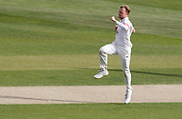 Sam Cook of Essex celebrates taking the wicket of Jordan Cox during Essex CCC vs Kent CCC, Bob Willis Trophy Cricket at The Cloudfm County Ground on 3rd August 2020