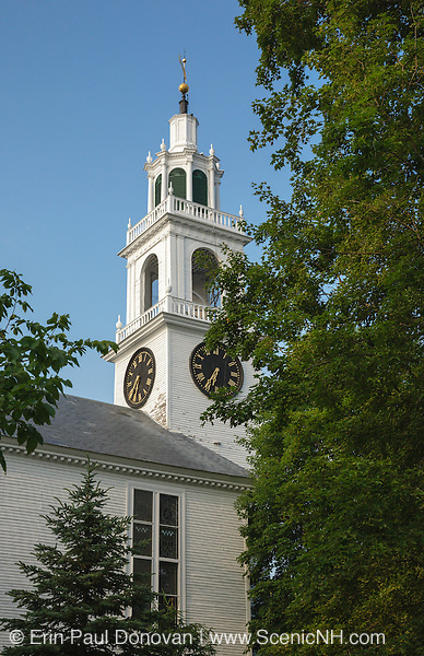 Church Steeple in the historical district of East Derry, New Hampshire USA