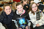 Emma Bailey, Eleanor Moffitt and Aoife O'Reilly as students from Scoil Aonghusa and St. Peters NS attend the Jazz Workshop in Drogheda Library...Photo NEWSFILE/Jenny Matthews.(Photo credit should read Jenny Matthews/NEWSFILE)....This Picture has been sent you under the condtions enclosed by:.Newsfile Ltd..The Studio,.Millmount Abbey,.Drogheda,.Co Meath..Ireland..Tel: +353(0)41-9871240.Fax: +353(0)41-9871260.GSM: +353(0)86-2500958.email: pictures@newsfile.ie.www.newsfile.ie.FTP: 193.120.102.198.