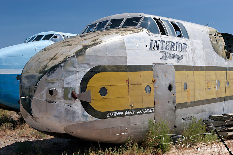 Fuselage of a C-82 Packet sits in the Hawkins &amp; Powers storage area in Greybull, Wyoming prior to auction in 2006.<br /> <br /> Hawkins and Powers was founded in 1969 by Dan Hawkins and Gene Powers. H&amp;P shut their doors at the end of 2005 and auctioned off their assets to satisfy nearly $15 million that it owed to creditors.