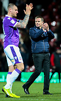 Bolton Wanderers manager Phil Parkinson and David Wheater applaud the fans after the match<br /> <br /> Photographer Alex Dodd/CameraSport<br /> <br /> The EFL Sky Bet Championship - Brentford v Bolton Wanderers - Saturday 13th January 2018 - Griffin Park - Brentford<br /> <br /> World Copyright &copy; 2018 CameraSport. All rights reserved. 43 Linden Ave. Countesthorpe. Leicester. England. LE8 5PG - Tel: +44 (0) 116 277 4147 - admin@camerasport.com - www.camerasport.com