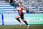Elizabeth Lam Pei Qi runs in a try during the Asia Rugby U20 Sevens 2017 at King's Park Sports Ground on August 5, 2017 in Hong Kong, China. Photo by Yu Chun Christopher Wong / Power Sport Images