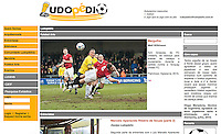 Web image showcasing football photography on Brazilian football site 'Ludopedio'. Original site link http://bit.ly/1zlmDx9 27/02/15.