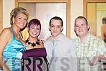 Having a ball at the Knocknagree GAA social in the Gleneagle Hotel Saturday night was l-r: Tricia O'Brien, Sheila Lyne, Darren and Corneilus Moynihan