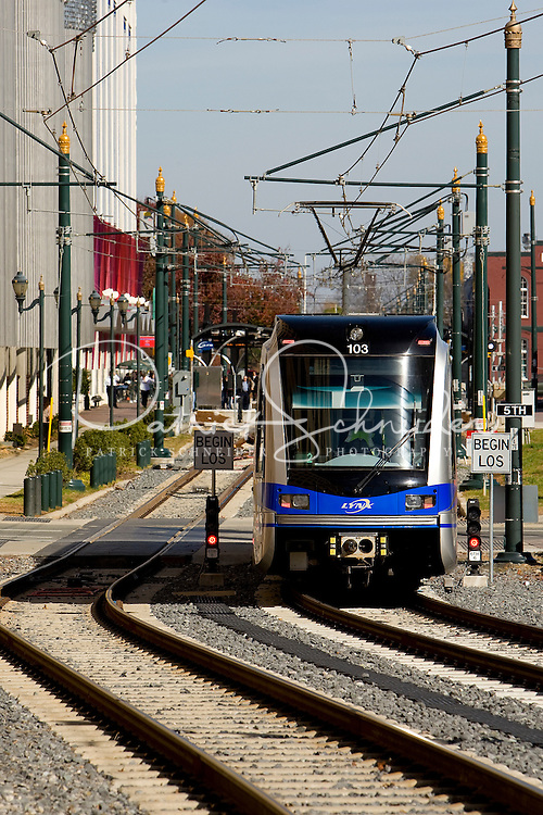 LYNX, the newest addition to Charlotte's Mass Transit system, is a 9.6-mile-long light rail that opened in November 2007. LYNX, the newest addition to Charlotte's Mass Transit system, is a 9.6-mile-long light rail that opened in November 2007.