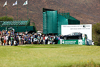 Lee Westwood (ENG) on the 18th teeduring the final round of the Nedbank Golf Challenge hosted by Gary Player,  Gary Player country Club, Sun City, Rustenburg, South Africa. 11/11/2018 <br /> Picture: Golffile | Tyrone Winfield<br /> <br /> <br /> All photo usage must carry mandatory copyright credit (&copy; Golffile | Tyrone Winfield)
