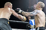Stuart Richards vs Dean Cherubini Contest During EBA Boxing: Prizefighter. Photo by: Simon Downing.<br /> <br /> Saturday July 29th 2017 - Grays Civic Hall, Grays, Essex, United Kingdom.