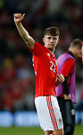 Ben Woodburn of Wales celebrates during the World Cup Qualifying Group D match at the Cardiff City Stadium, Cardiff. Picture date 2nd September 2017. Picture credit should read: Simon Bellis/Sportimage