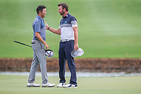 David Lipsky (USA) and Scott Jamieson (SCO) on the 18th during the final round of the Alfred Dunhill Championship, Leopard Creek Golf Club, Malelane, South Africa. 16/12/2018<br /> Picture: Golffile | Tyrone Winfield<br /> <br /> <br /> All photo usage must carry mandatory copyright credit (&copy; Golffile | Tyrone Winfield)