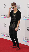 LOS ANGELES, CA - NOVEMBER 18: Justin Bieber attends the 40th Anniversary American Music Awards held at Nokia Theatre L.A. Live on November 18, 2012 in Los Angeles, California.PAP1112JP313..PAP1112JP313..