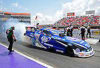 Apr. 29, 2012; Baytown, TX, USA: NHRA funny car driver Robert Hight during the Spring Nationals at Royal Purple Raceway. Mandatory Credit: Mark J. Rebilas-