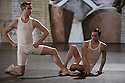 "London, UK. 05/12/11. ""Matthew Bourne's Christmas"" is filmed at Ealing Studios. The show comprises extracts of ten of his finest works over his 25 year career. Picture shows an extract from ""Spitfire"". Dancers are: Richard Winsor, Chris Marney, Simon Marney and Jonny Ollivier."