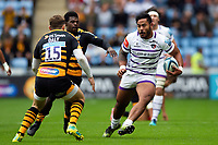 Manu Tuilagi of Leicester Tigers takes on the Wasps defence. Gallagher Premiership match, between Wasps and Leicester Tigers on September 16, 2018 at the Ricoh Arena in Coventry, England. Photo by: Patrick Khachfe / JMP