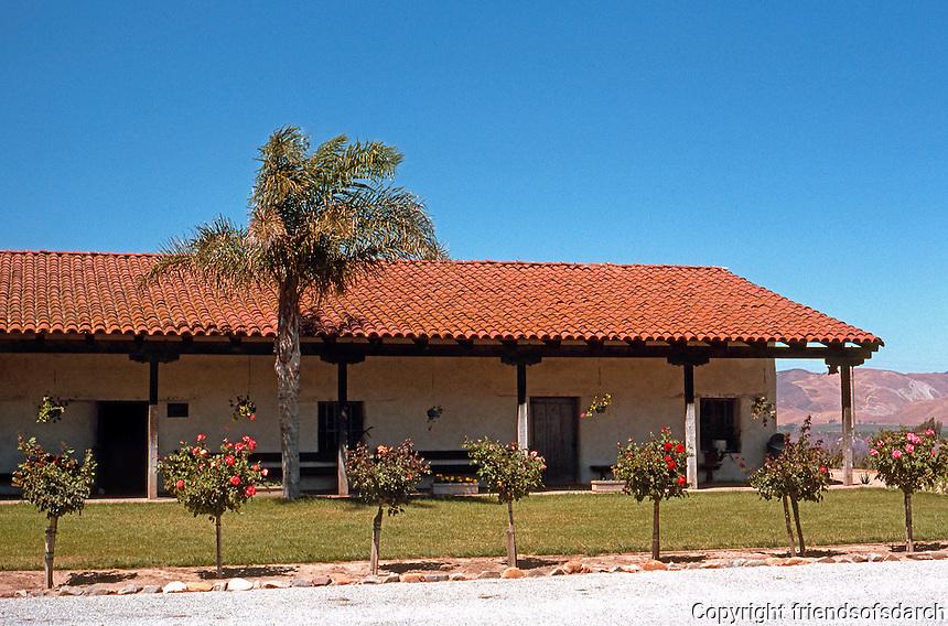 CA. Missions: Mission Soledad (Mission Nuestra Senora de la Soledad).  Founded 1791, restored 1955. Photo '89.