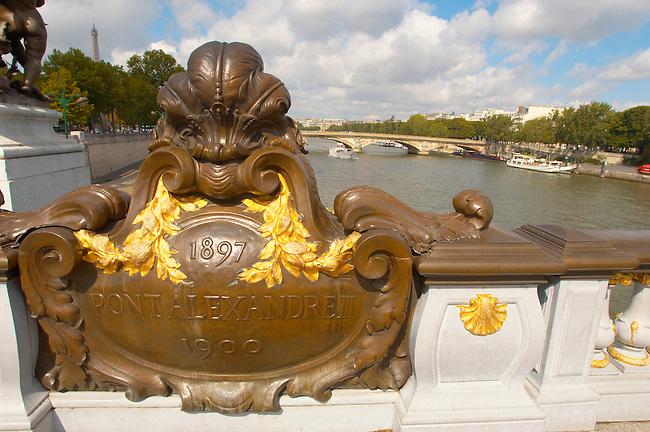 Paris - France - Pont Alexadre 111 - Sign