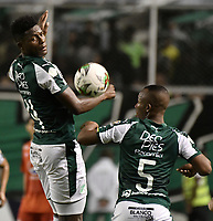PALMIRA - COLOMBIA, 20-11-2019: Danny Rosero Valencia del Cali en acción durante el partido entre Deportivo Cali y América de Cali por la fecha 4, cuadrangulares semifinales, de la Liga Águila II 2019 jugado en el estadio Deportivo Cali de la ciudad de Palmira. / Danny Rosero Valencia of Cali in action during match between Deportivo Cali and America de Cali for the date 4, quadrangulars semifinals, as part of Aguila League II 2019 played at Deportivo Cali stadium in Palmira city. Photo: VizzorImage / Gabriel Aponte / Staff