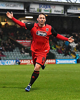 Kristian Dennis of Grimsby Town celebrates after scoring the third goal during Yeovil Town vs Grimsby Town, Sky Bet EFL League 2 Football at Huish Park on 9th February 2019