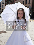 Olivia Harty who received her First Holy Communion in St. Peters Church. Photo:Colin Bell/pressphotos.ie